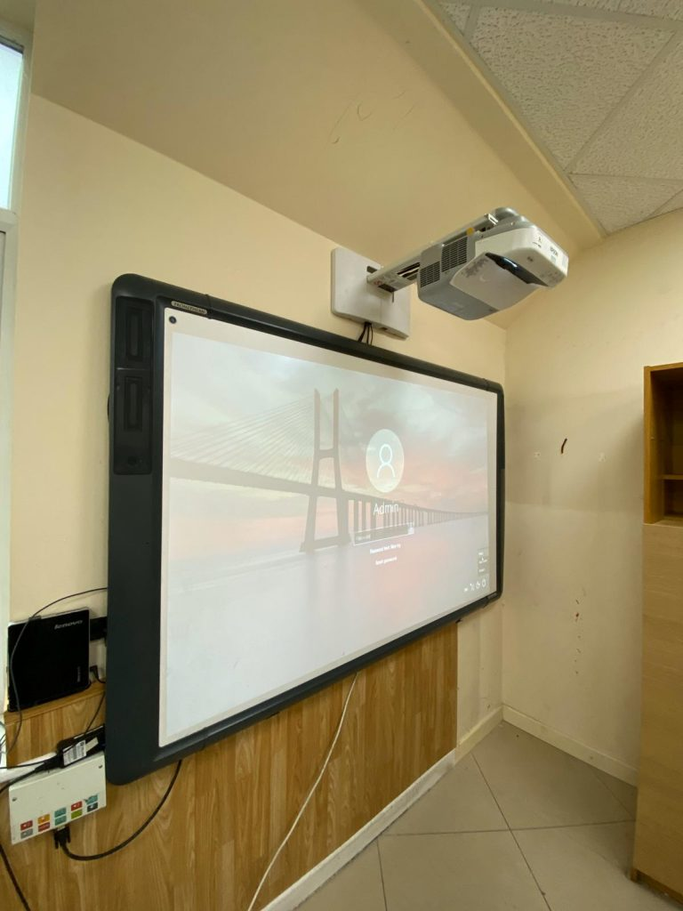 Smart Board with a projector